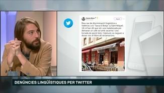 Denúncies lingüístiques per Twitter