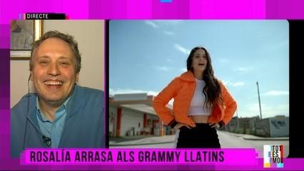 Rosalía arrasa als Grammy llatins
