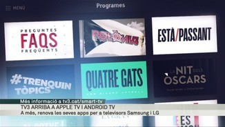 TV3 arriba a Apple TV i Android TV
