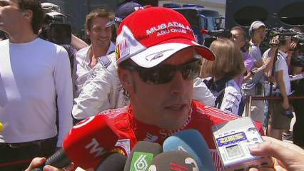 Alonso, satisfet