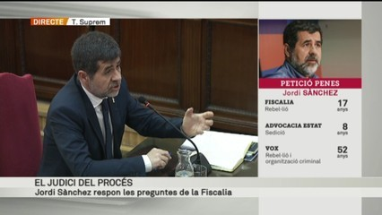"Jordi Sànchez: ""La proclama 'Defensem les institucions' no era de l'ANC exclusivament"" [vídeo]"