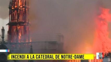 Primeres imatges de l'incendi a la catedral de Notre-Dame