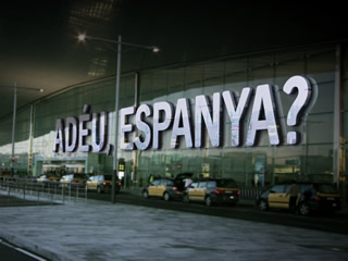 "Careta del documental ""Ad�u, Espanya?"""