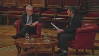 Ken Follet i John Banville a Barcelona