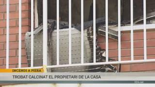 Un mort en l'incendi d'una vivenda a Piera