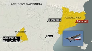 Tres morts en un accident d'avioneta prop de Madrid
