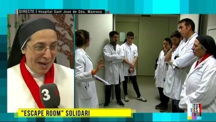 """Resoldre un misteri amb fins solidaris: """"escape room"""" en un hospital"""