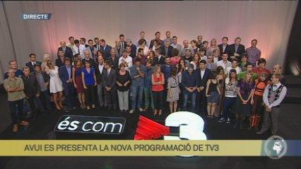 TV3 presenta la nova programació