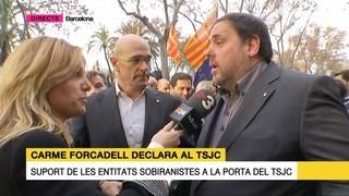 El vicepresident Junqueras i el conseller Romeva afirmen que avui es defensa un principi democràtic