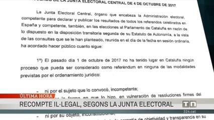 Els resultats del referèndum no tenen cap valor, segons la Junta Electoral Central