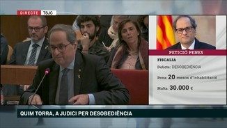 "Quim Torra: ""Era impossible complir una ordre il·legal"""