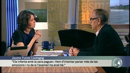 """Jaume Funes: """"Hem d'intentar parlar més amb els nens d'emocions i no de si l'examen ha anat bé"""""""