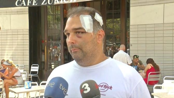 Els Mossos obren una investigació per l'agressió a un turista per part d'un manter