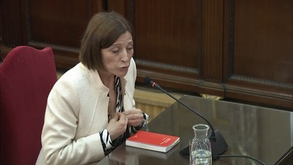 Forcadell defensa que al Parlament no es pot prohibir el debat polític