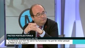 """Miquel Iceta: """"No volem governar en coalició amb Podem"""""""