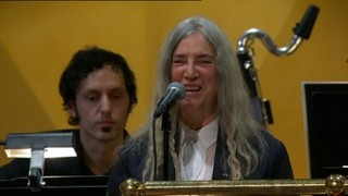 Lapsus de Patti Smith interpretant una cançó de Bob Dylan