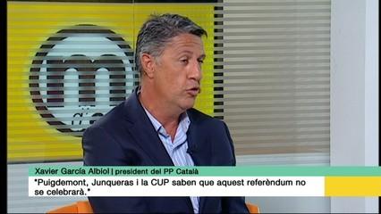 """Xavier García Albiol: """"Puigdemont, Junqueras i la CUP saben que aquest referèndum no se celebrarà"""""""