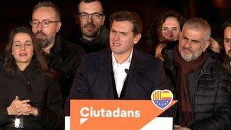 """Rivera: """"Hem guanyat els separatistes a les urnes i defensarem un projecte sense supremacismes"""""""