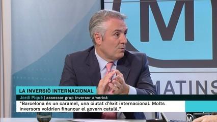 """""""Molts inversors voldrien finançar el govern català"""", diu l'assessor empresarial Jordi Piqué"""