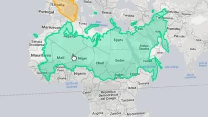 La grandària real dels països