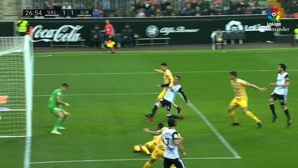 El Girona marxa de Mestalla sense premi (2-1)