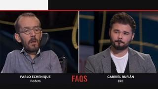 Pablo Echenique i Gabriel Rufián, cara a cara