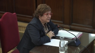 Former regional minister Dolors Bassa, during questioning in the Supreme Court