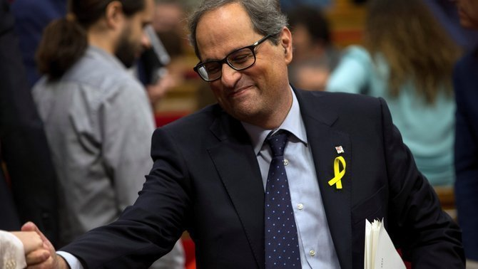 Conservar els llaços grocs: les raons de Torra a la Junta Electoral