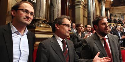 El Parlament aprova la Declaració de Sobirania presentada per CiU, ERC i ICV amb els seus vots i un de la CUP