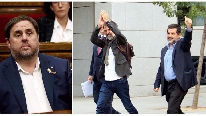 Junqueras, Sànchez i Cuixart denuncien un judici polític i acusen Llarena de parcial