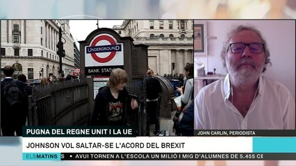 "John Carlin: ""Boris Johnson està sota el control de Cummings"""