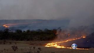 Incendi al Parc Nacional Chapada dos Veadeiros del Brasil