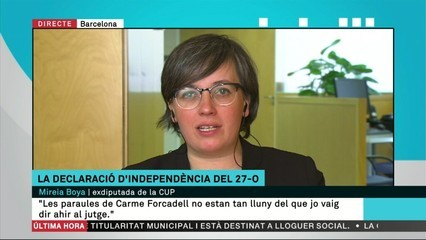 """Mireia Boya: """"Això és una causa contra el sobiranisme i el moviment independentista català"""""""