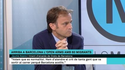 """Jaume Asens: """"El que fem amb els migrants d'Open Arms no és solidaritat, és una obligació"""""""