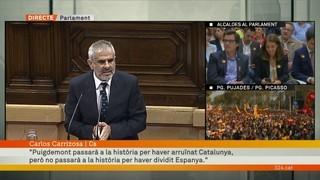 """Carlos Carrizosa (Ciutadans): """"Puigdemont passarà a la història per haver arruïnat Catalunya"""""""
