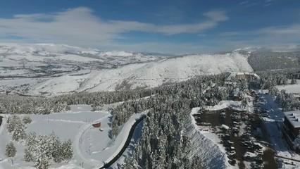 Neu a la Cerdanya a vista de dron