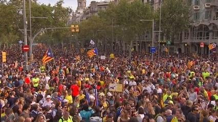 525.000 persones omplen Barcelona en les mobilitzacions per la vaga general