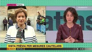 Com serà la vista de mesures cautelars. Ho explica Margalida Solivellas