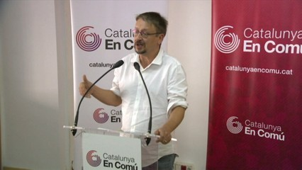 """Xavier Domènech: """"No és el moment d'anar cap a una declaració d'independència"""""""