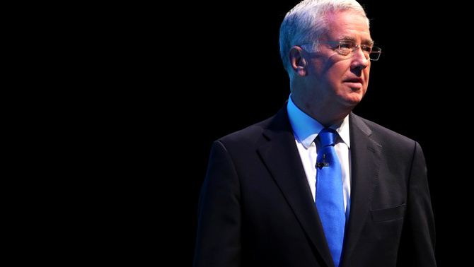 El ministre de Defensa Michael Fallon