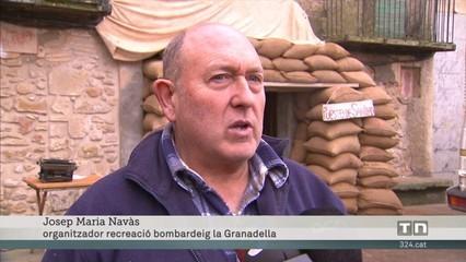 La Granadella recrea el 80 aniversari dels bombardejos i combats al poble durant la Guerra Civil
