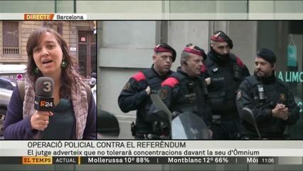 La Guàrdia Civil entra a la Generalitat i a Òmnium per l'1-O