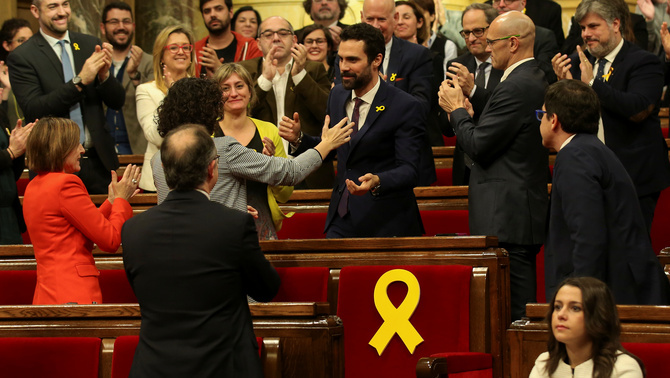 Roger Torrent, elegit nou president del Parlament de Catalunya