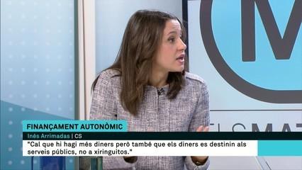 """Inés Arrimadas: """"Tothom sap que una persona que està fugida de la justícia no pot ser president de la Generalitat"""""""