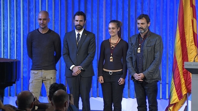 Josep Guardiola, Roger Torrent, Carola Rackete i Òscar Camps