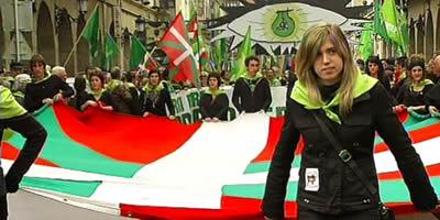 L'esquerra abertzale aprofita la celebració de l'Aberri Eguna per reivindicar la seva presència a les eleccions del 22 de maig
