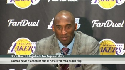 """Kobe Bryant: """"M'havia de treure aquest pes de sobre"""""""