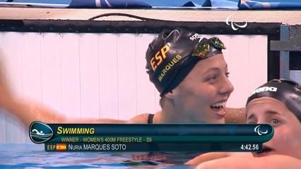 Núria Marquès, nedadora paralímpica