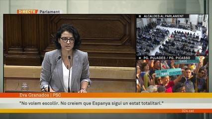 """Eva Granados (PSC): """"No volem escollir. No creiem que Espanya sigui un estat totalitari"""""""