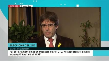 """Carles Puigdemont: """"La situació en què es troben els empresonats és indigna"""""""